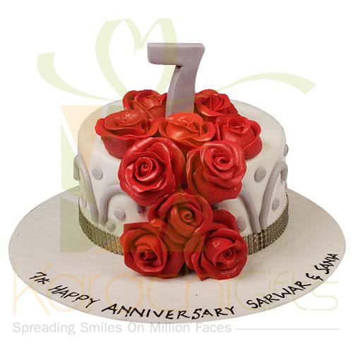 7th Anniversary Cake 6lbs by Sachas