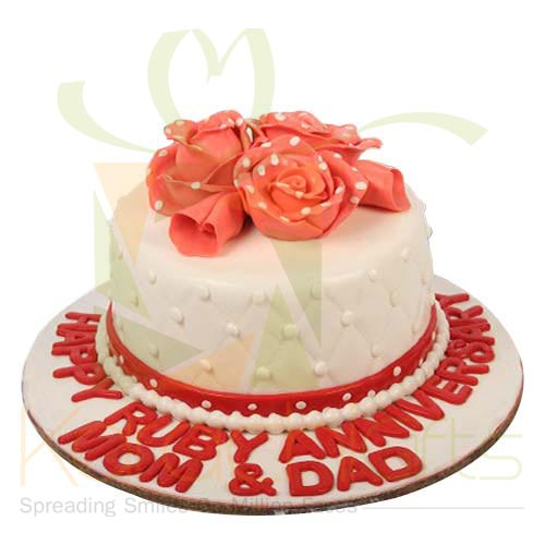 Anni Cake 5lbs With Dotted Flowers By Sachas