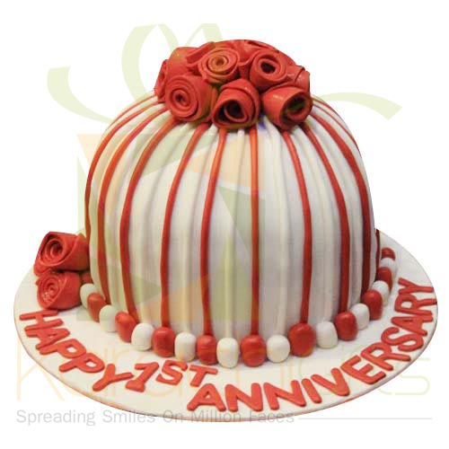 Red Rose Anni Cake 6lbs By Sachas