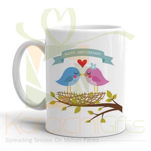 Bird Couple Anni Mug