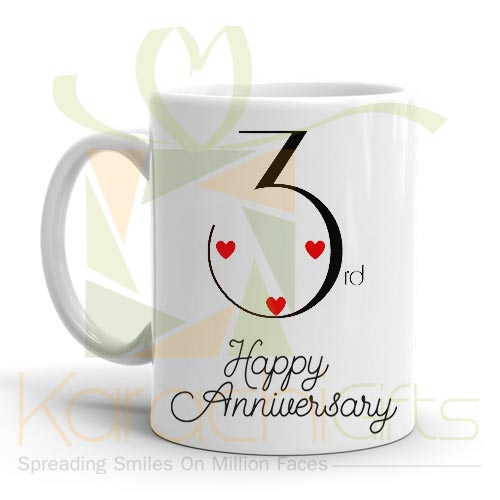 3rd Happy Anniversary Mug