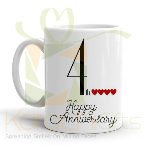 4th Happy Anniversary Mug