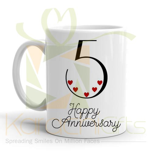 5th Happy Anniversary Mug