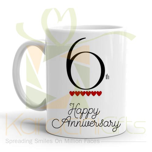 6th Happy Anniversary Mug