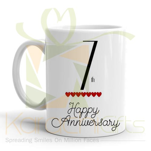 7th Happy Anniversary Mug