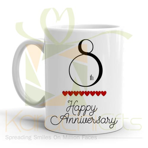 8th Happy Anniversary Mug