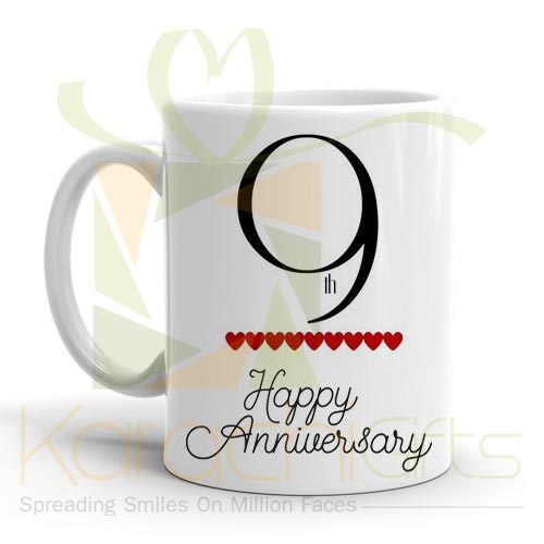 9th Happy Anniversary Mug