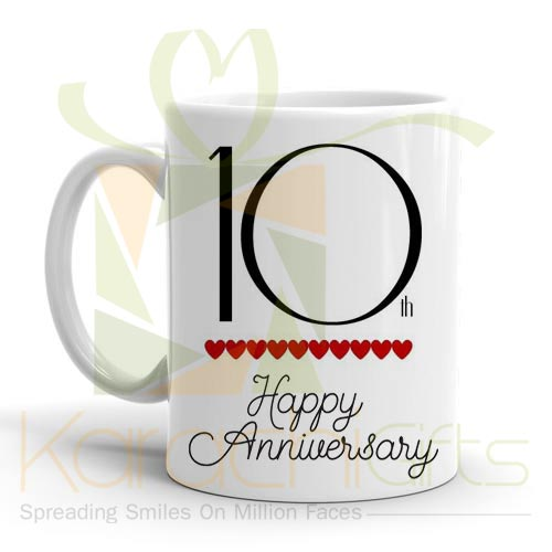 10th Happy Anniversary Mug