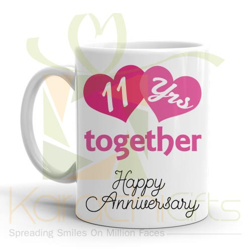 11th Happy Anniversary Mug