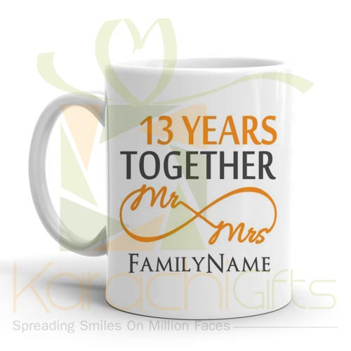 13th Happy Anniversary Mug