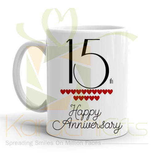 15th Happy Anniversary Mug
