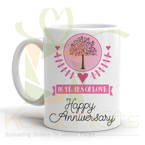 16th Happy Anniversary Mug