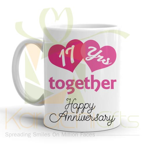17th Happy Anniversary Mug