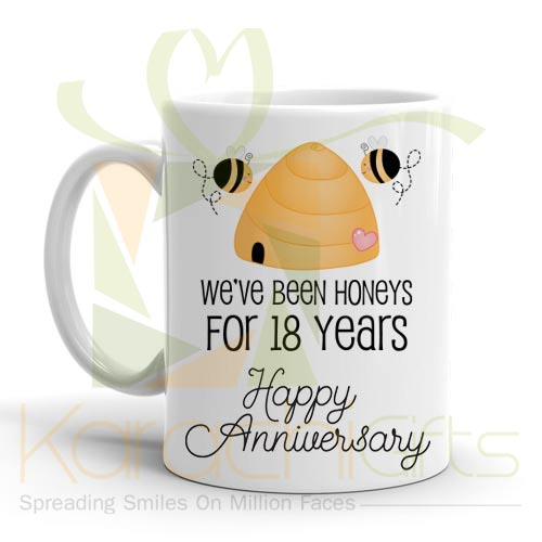 18th Happy Anniversary Mug