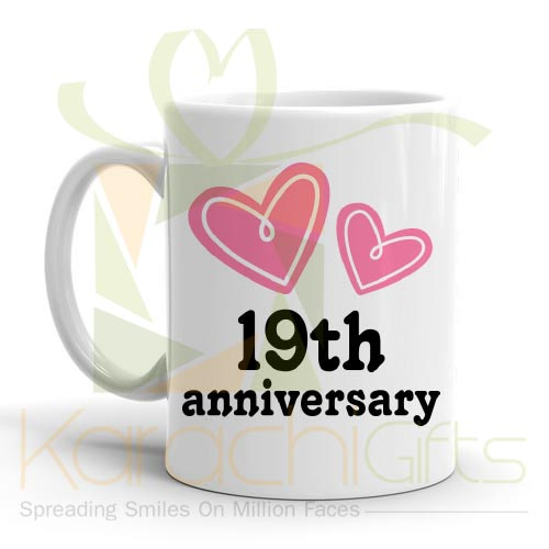 19th Happy Anniversary Mug