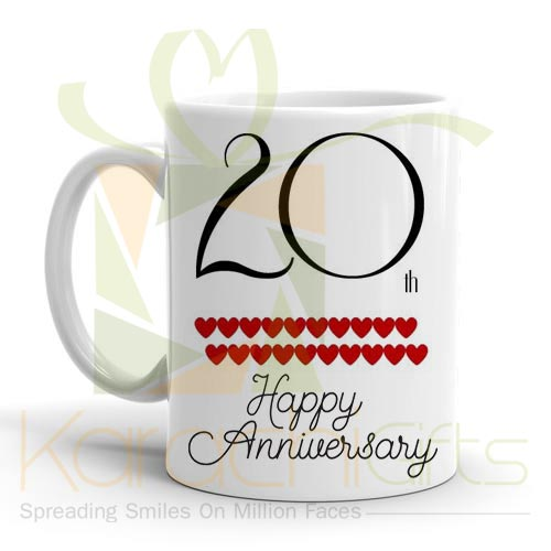 20th Happy Anniversary Mug