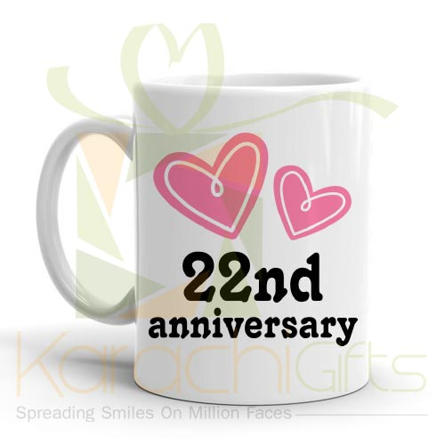 22nd Happy Anniversary Mug