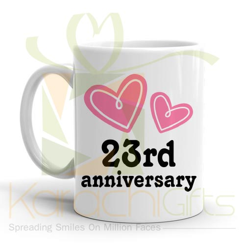 23rd Happy Anniversary Mug