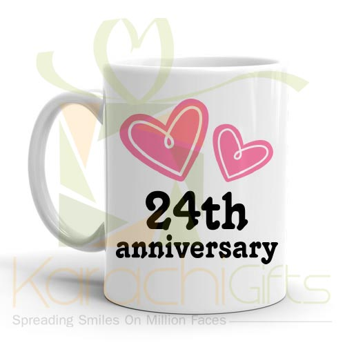 24th Happy Anniversary Mug