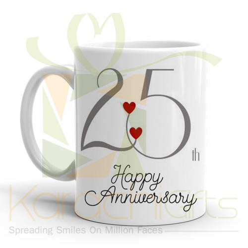 25th Happy Anniversary Mug