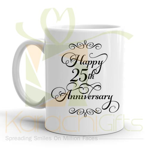 Happy 25th Anniversary Mug