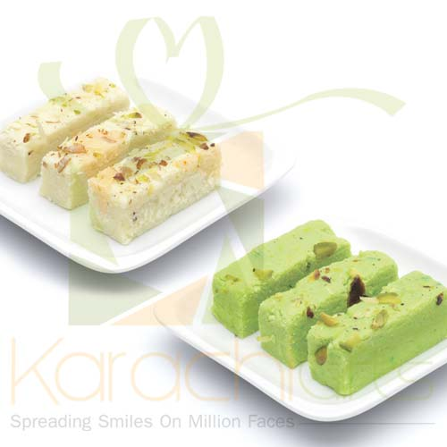 Green And White Barfi