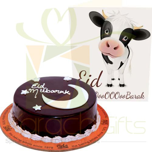 Bakra Eid Cake And Card