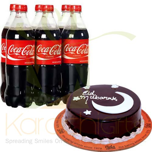 Soft Drink Crate With Cake