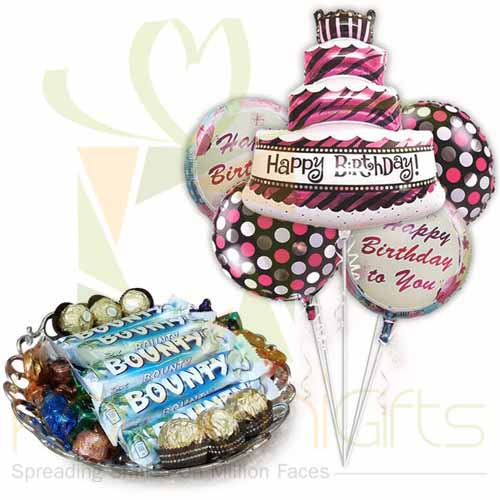 Birthday Balloons With Chocolates