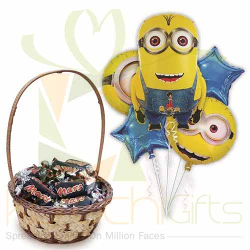 Minion With Choc Basket