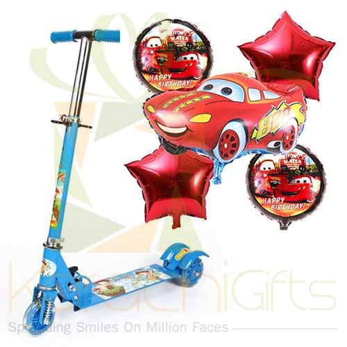 Scooty With Car Balloon