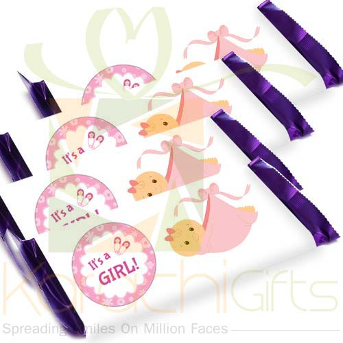 Its A Girl Chocolate (12pcs)