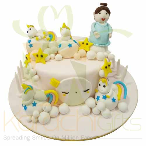 Cartoon Cake 5lbs-Blue Ribbon