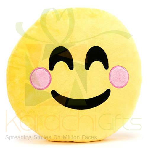 Blush Emoji Cushion