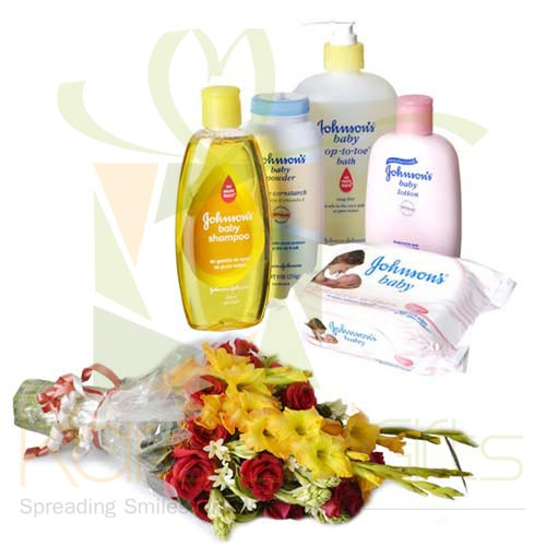 Bath Set With Bouquet