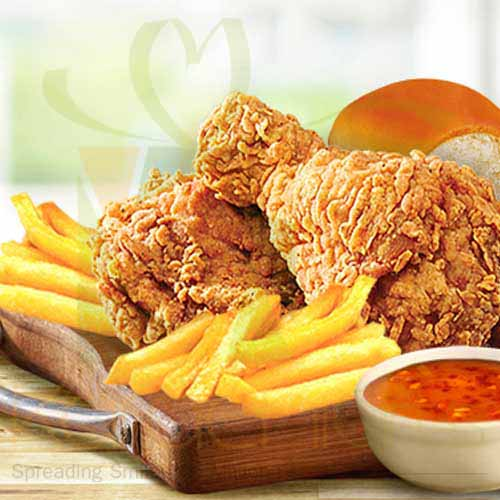 Chicken and Chips - KFC
