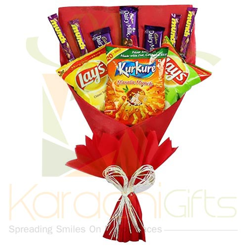 Chocs And Chips Bouquet