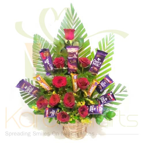 Cadbury Rose Basket