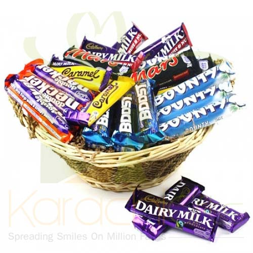 Chocolate Basket Small (16 bars)