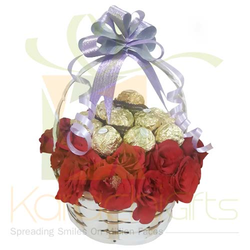Rose And Ferrero Basket