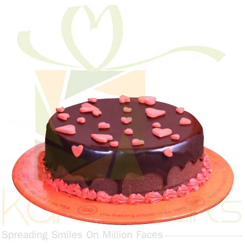 Heart Sprinkled Cake By Sachas