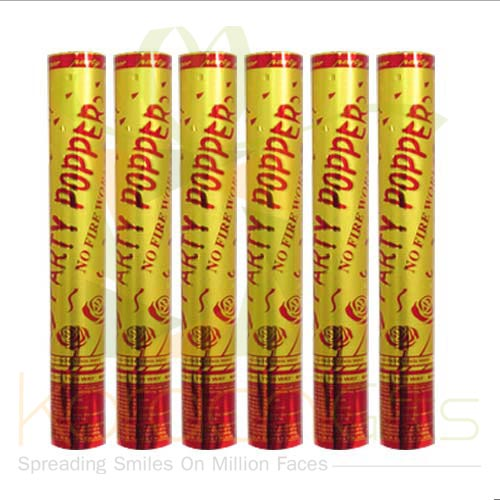 Party Poppers (Large 6pcs)