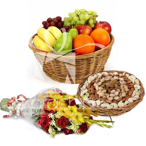 Assorted Fruits With Flowers