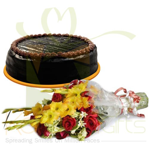 Choco Cake With Flowers