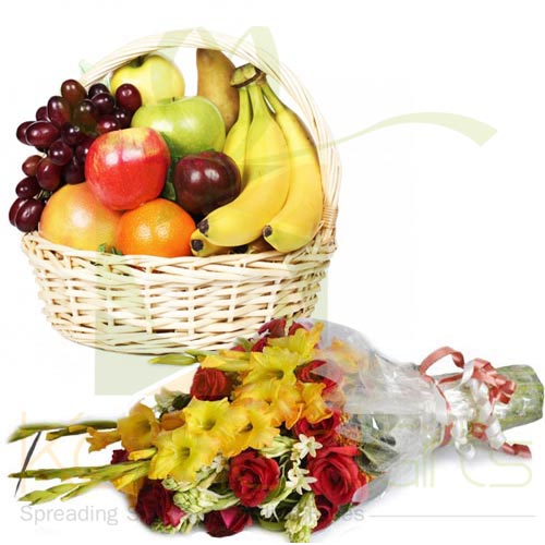5Kg Fruits With Bouquet