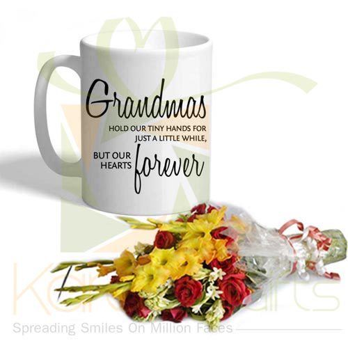 Grandma Mug With Flowers