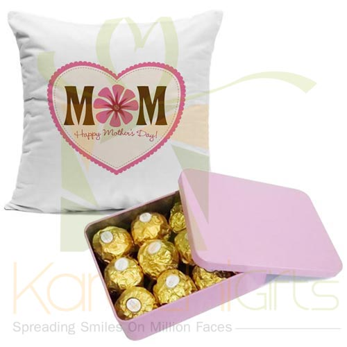 Mom Cushion With Ferrero Box