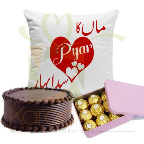 Chocs Cake n Cushion For Maa