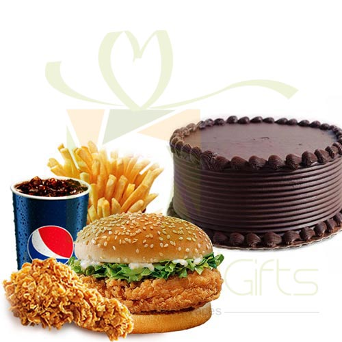 KFC WOW Meal With Cake