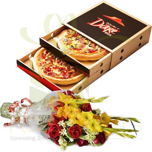 Pizza Deal With Flowers